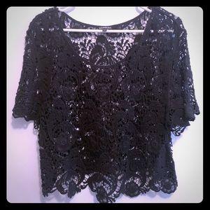 Express: Lace crop top